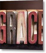 Grace - Antique Letterpress Letters Metal Print
