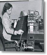 Grace Hopper, American Computer Scientist Metal Print