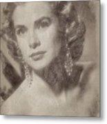 Grace Kelly, Vintage Hollywood Actress Metal Print
