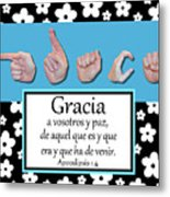 Grace Spanish - Bw Graphic Metal Print