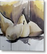 Graceful Pears Metal Print by Mindy Newman
