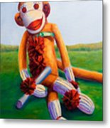 Graduate Made Of Sockies Metal Print