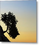 Lonely, Loutro, Chania, Crete, Greece Metal Print