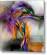 Graffiti - Fractal Art Metal Print