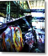 Graffiti Car Metal Print