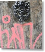 Graffiti Door Knocker Metal Print