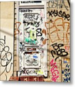 Graffiti Doorway New Orleans Metal Print