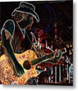 Graffiti Guitar Metal Print