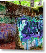 Graffiti Illusion Metal Print