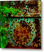 Graffiti In The Forest Metal Print
