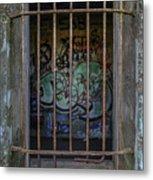 Graffiti Is Barred Metal Print
