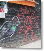 Graffiti Pigeon Metal Print