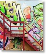 Graffiti Steps Metal Print