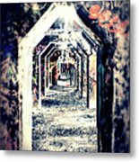 Graffiti Under Bridge Metal Print