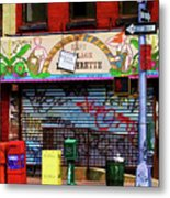 Graffiti Village Store Nyc Greenwich  Metal Print