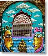 Graffiti Window Metal Print