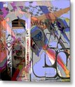 Graffitis Front Door Metal Print