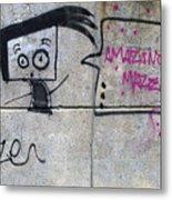Graffitti Metal Print