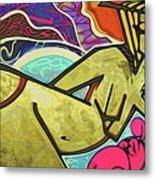Grafitti Curves Metal Print