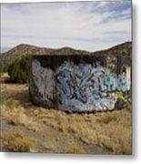 Grafitti In The Middle Of Nature Metal Print