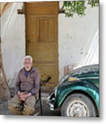 Graham And His Beetle  Metal Print