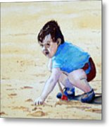 Graham On The Sand Metal Print