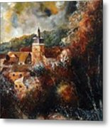 Graide Village Belgium Metal Print