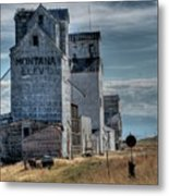 Grain Elevators, Wilsall Metal Print