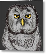 Grammar Owl Is Judging You Metal Print