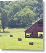 Grampa's Summer Barn Metal Print