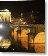 Gran Madre Church By Night In Turin, Italy Metal Print
