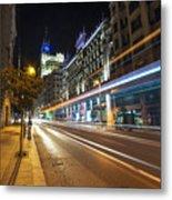 Gran Via Light Trails 1.0 Metal Print