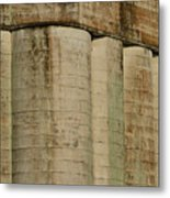 Granary Silos With Window Metal Print