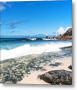 Grand Anse Beach Metal Print