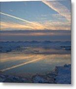 Grand Bend Winter Reflections 2 Metal Print