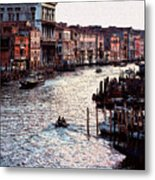 Grand Canal At Sunset Metal Print