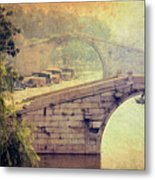 Grand Canal Bridge Suzhou Metal Print