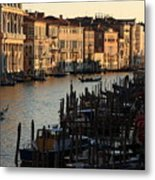 Grand Canal In Venice From The Rialto Bridge Metal Print