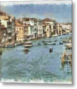 Grand Canal In Venice Metal Print