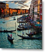 Grand Canal Sunset Metal Print