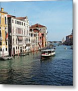 Grand Canal View At The Academy Bridge Metal Print