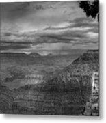 Grand Canyon Bw Metal Print