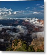 Grand Canyon Fog Metal Print