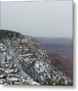 Grand Canyon In Snow Metal Print