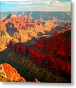 Grand Canyon National Park Sunset On North Rim Metal Print