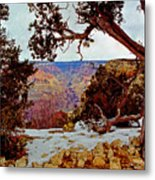 Grand Canyon National Park - Winter On South Rim Metal Print