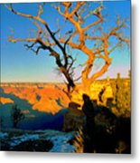 Grand Canyon National Park Winter Sunrise On South Rim Metal Print