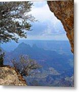 Grand Canyon North Rim Window in the Rock Metal Print