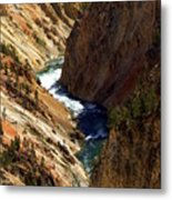 Grand Canyon Of The Yellowstone 1 Metal Print