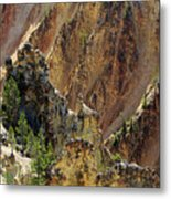 Grand Canyon Of The Yellowstone From North Rim Drive Metal Print